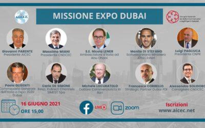 MISSIONE EXPO DUBAI Dicembre 2021